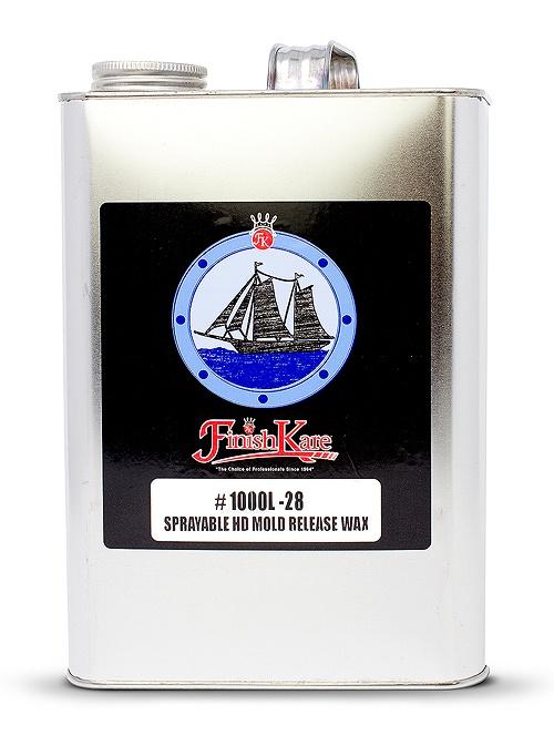 1000L-28: Sprayable HD Mold Release Wax - Finish Kare